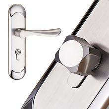 Modern Simple Aluminum Silver Durable Door Handle Lock Cylinder Front Back Lever Latch Home Security with Keys