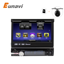"7"" Universal 1 Din Car Audio DVD Player+Radio+GPS Navigation+Autoradio+Stereo+Bluetooth+PC+3G+DVD Automotivo+SD USB RDS Aux"