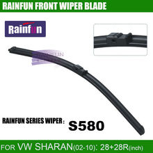 RAINFUN dedicated car wiper blade for VW SHARAN(02-10),  S580 28+28R INCH auto wiper with natural rubber, 2 pcs a lot