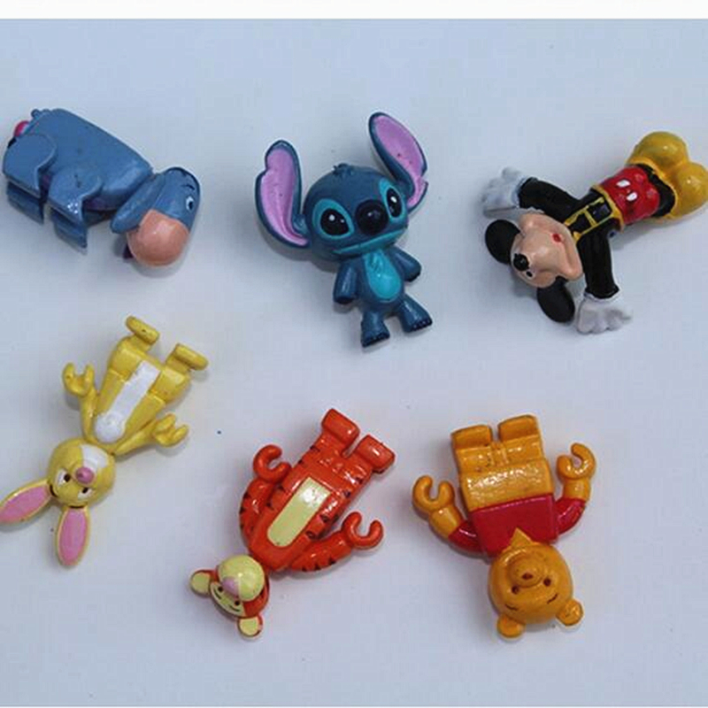 in stock 3-3.5CM mickey bear bunny horse animals cute cartoon mini figurs toys .best gift for clients XW039(China (Mainland))