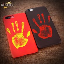 KISSCASE Thermal Discolor Case For iPhone X 5s 5 For iPhone 8 7 6s 6 Plus PU Leather Touch Discolor Hot Patterned Cases Capinhas