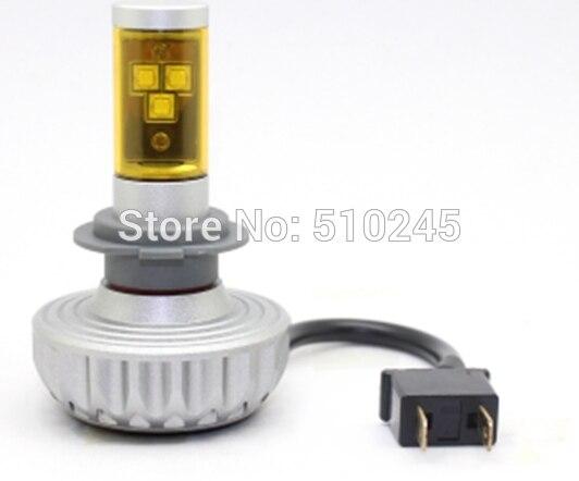 12V-24V Auto Car led headlamp light H7 30W 3000LM 6500K  3000K 4300K 8000K 10000K<br>