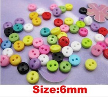 Free ship!1000pc!6MM mini size sewing bead button, bulk buttons,sewing accessories,Resin Buttons wholesal