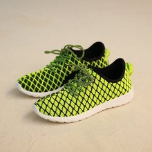 Breathable Knitted Fabric Men's Outdoor Sports Running Shoes Anti-Skid Athletic Sports Sneakers Low Upper Height Shoes Plus Size