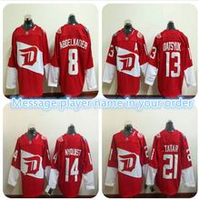 Mens #13 Pavel Datsyuk #14 Gustav Nyquist #21 Tomas Tatar Color Red 100% Stitched Jerseys