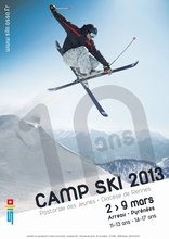 Camp Ski 2013 Skiing Vintage Retro Decorative Poster DIY Wall Home Bar Posters Home Decor Gift(China)
