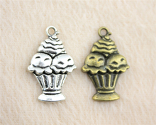 10pcs 18*27mm Antique Silver Or Bronze Color Cake Charm Pendant For Bracelet Necklace Jewelry Accessories Making Handmade DIY