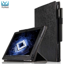 YUNAI For Lenovo Yoga Book Leather Case Cover Folding Folio Cover Case For Yoga Book Magnetic Protective 10.1inch Tablet PC Case(China)