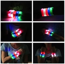 Voice control led bracelet sound activated glow bracelet for party clubs concerts dancing christmas DHL