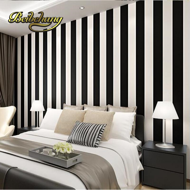 beibehang papel de parede 3D wallpaper for walls 3 d Zebra Modern Brief Vertical Black and White Stripe Roll For Living room <br>