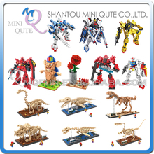 Mini Qute LOZ Gundam Robot dinosaur SPINY LIFE super hero Rose plastic building block action figures model educational toy - WTOYW METAL PUZZLE & PLASTIC BLOCKS WORLD store
