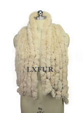 Womens Classic 8 Vertical Bars Wraps Winter Long Scarves 145cm*27cm Fashion Lady Real Rex Rabbit Fur Soft Muffler LX00856