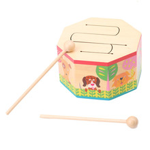 Children Musical Toys Wooden Drum For Early Learning Toy Drum Musical Instruments Toys For Kids Gift For Baby DW838755