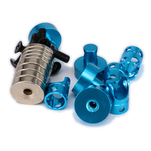 New 21mm long magnetic stealth invisible body shell mount posts Alloy aluminum for 1/10 RC Hobby Model RC Drift Car HSP Blue(China)