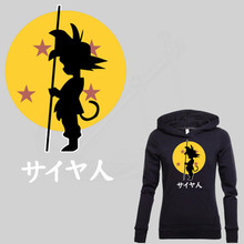 Japan popular anime DRAGON BALL Son Goku stickers Iron on patches T-shirt Sweater thermal transfer paper Patch for clothing(China)
