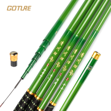 Goture Brand Ultralight Carp Fishing Rod Carbon Fiber Hand Pole 80.2g Green Stream Fish Rods  3.6m 4.5m 5.4m 6.3m 7.2m