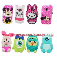 Silicone Case For Samsung Galaxy S3 mini 3D Minnie Hello kitty Pig Owl Sulley Stitch Back Cases Cover For Samsung S3 mini i8190
