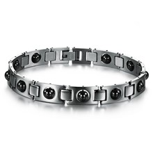 2013 accessories magnetic health care bracelet  40g titanium steel c12mm uff bangle for cool men's jewelry gifs n635