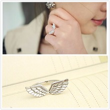G163 Hot Anillos Girl Bijoux 2017 New Fashion Angle Wing Finger Ring For Women Jewelry Wedding Accessories Cheap Rings Men