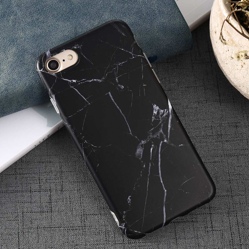 Luxury Marble Pattern i 7 Phone Cover Case For iPhone 7 Plus Soft TPU Back Cover For iPhone7 Plus Black Phone Accessories Coque (22)