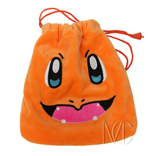 Anime Pocket Monster Charmander Jewelry/Cell Phone Drawstring Pouch/Wedding Party Gift Bag (DRAPH_18)