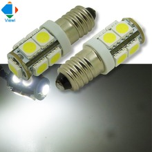 Viewi 20x ampolletas led bulb E10 2.5w Dc 12 volt car light smd5050 chip 9leds 12v energy saving lamp warm white