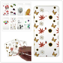 Phone Cases Cover For Samsung Galaxy J5 2016 J510 J510F Ultra-thin Maple Leaf Butterfly Soft TPU Transparent back cover design