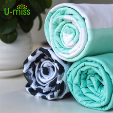 U-miss European style Cotton Printed Underlay Household Thick Pad ironing board Anti-Heat Cushion cover(China)