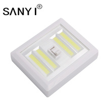 Magnetic 4* COB LED Cordless Light Switch Wall Night Lights Battery Operated Kitchen Cabinet Garage Closet Camp Emergency Lamp(China)