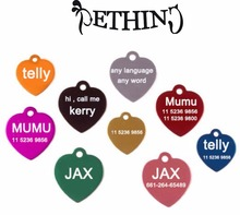 All kinds of pet free Customized engraving text on pet id tags dog id tag aluminum free engraving pet identify 8 colors supply