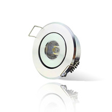 Mini Color LED Spot lights 3W recessed ceiling lamp 110V 220V size 40-45mm jewelry lighting downlight for cabinet showcase light