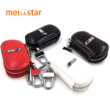 Real Leather M performance M emblem car key holder bmw E21 E30 E36 E46 E90 E91 E92 E93 F30 X3 X5 X6 3Series 5Series