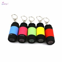 Flashlight Ultra Bright Mini USB Rechargeable Led Light Lighting Lamp Flashlight Torch Keychain LED Light 5 Color