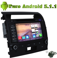 Quad Core 2 Din Android 5.1.1 Car DVD For Toyota Prado Land Cruiser 200 2008 - 2012 With 2G ROM Radio Stereo GPS Camera(China)