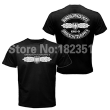 Mens T-shirt GSG 9 Police German Counter Terrorism Special Operations Unit Tee Shirt Short Sleeve Heavy Cotton T shirt