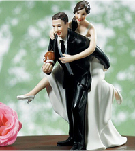 Wedding Cake Topper Wedding Couple Playful Football Couple Custom Couple Cake Dolls