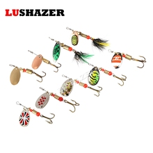 LUSHAZER Fishing spinner bait 2.5-4.5g spoon lure metal baits treble hook isca artificial fish wobbler feeder carp spinnerbait(China)