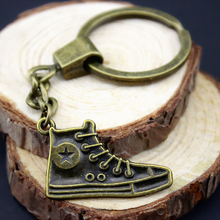 Home Decor Metal Crafts Party Favors sport shoe Pendants DIY Car Key Ring Holder Souvenir Gift Optional Package Kraft Paper Box(China)
