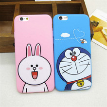 Fashion Cartoon Doraemon Rabbit Brown Bear Soft Slim Back Cover for Apple IPhone 5 5s SE Silicone Ultra Thin Phone Case Shell(China)