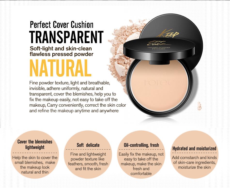 ROREC Mineral Pressed Face Powder Concealer Base Makeup Performance Wear Powder Foundation Compact Powder Makeup Illuminator 7