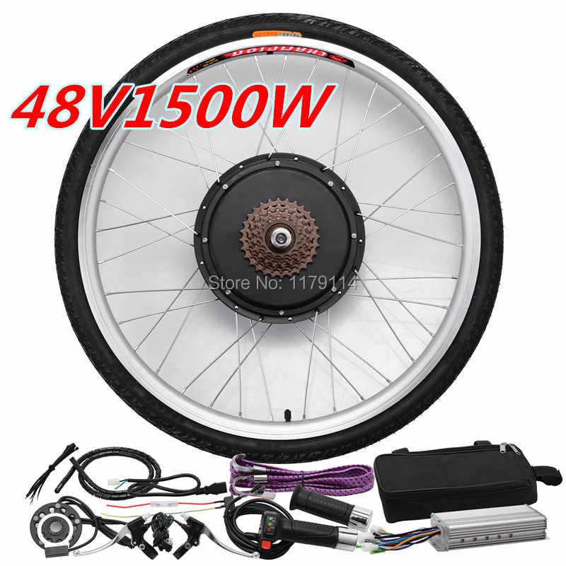 Ebike 1500W kit electric bike conversion 48V 26/'/' 20-29/'/' 700C with LCD display