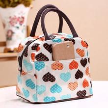 Portable Insulated Canvas lunch Bag Thermal Food Picnic Lunch Bags for Women kids Men Cooler Lunch Box Bag Tote