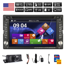 BT Music Video Sub HeadUnit Car DVD Player GPS USB MP3 Stereo AMP System MP5 6.2 Inch Navigator PC Radio 3D Map