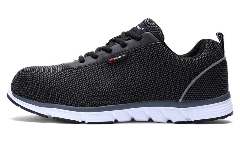 MODYF Men Safety Steel Toe Work Shoes Lightweight Breathable Casual Footwear 14
