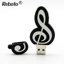 Cute Piano Shape USB Flash Drive 4GB 8GB 16GB 32GB Music Note USB Disk 64GB USB 2.0 Pen Drive Memory Stick Pendrive U Disk