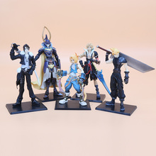 5pcs/set 11-18cm Final Fantasy PVC Figures Collectible Model Toys Cloud Strife Squall Leonhart Tidus Warrior of Light Zack Fair