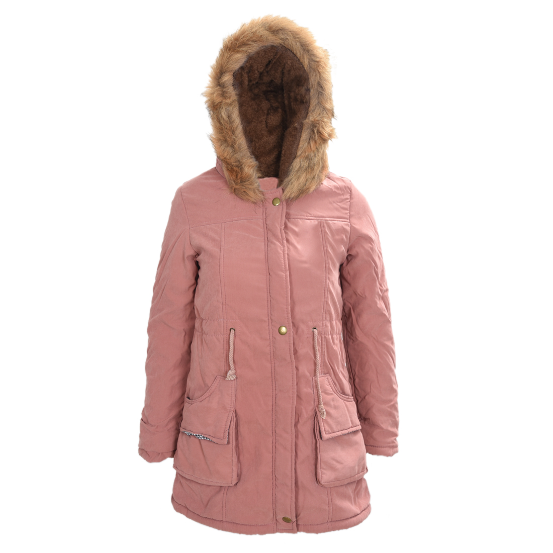 SAF-Women Hooded Fur Winter Thick Padded Long Coat Outerwear Jacket 12-COLORSОдежда и ак�е��уары<br><br><br>Aliexpress