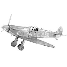 Spitfire model laser cutting 3D puzzle DIY metal airplane model jigsaw free shipping best gifts for kids educational toys