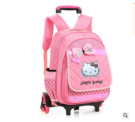 kids school backpack wheels Kids Travel Bag on wheel Childrens Rolling Bag for school Travel luggage trolley backpack For girl <br><br>Aliexpress