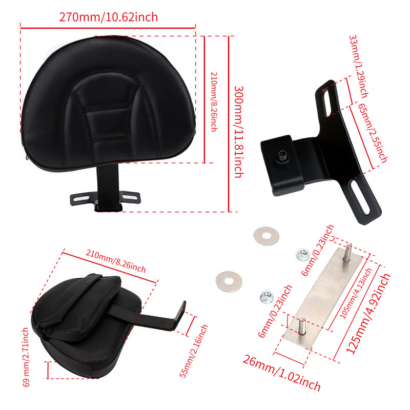 Backrest Pad for Harley (4)